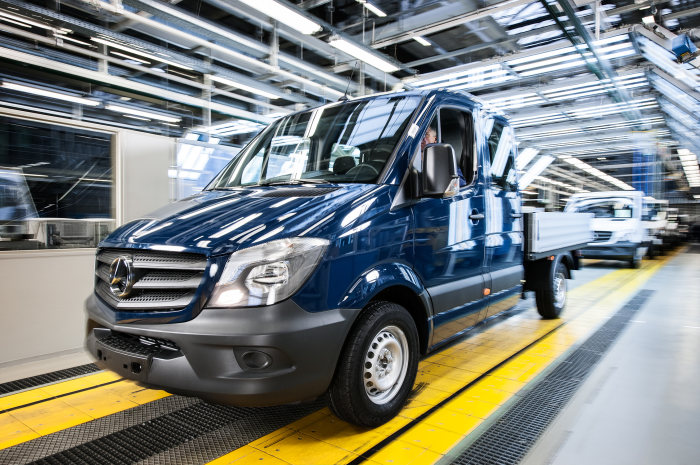 The Mercedes-Benz plant in Ludwigsfelde is one of the biggest employers in Brandenburg. The new Sprinters roll off the line in the Finish section of the plant.