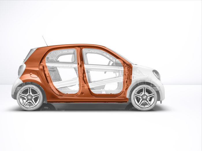 The new smart forfour 2014 with highlighted tridion cell