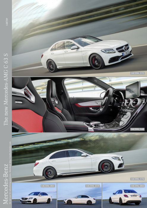 Mercedes-AMG C 63, exterior: designo diamond white bright, AMG Exterior Carbon-Fibre package I, heat-insulating dark-tinted glass, interior: nappa leather red pepper/black, AMG Performance seats, AMG carbon-fibre / aluminium trim