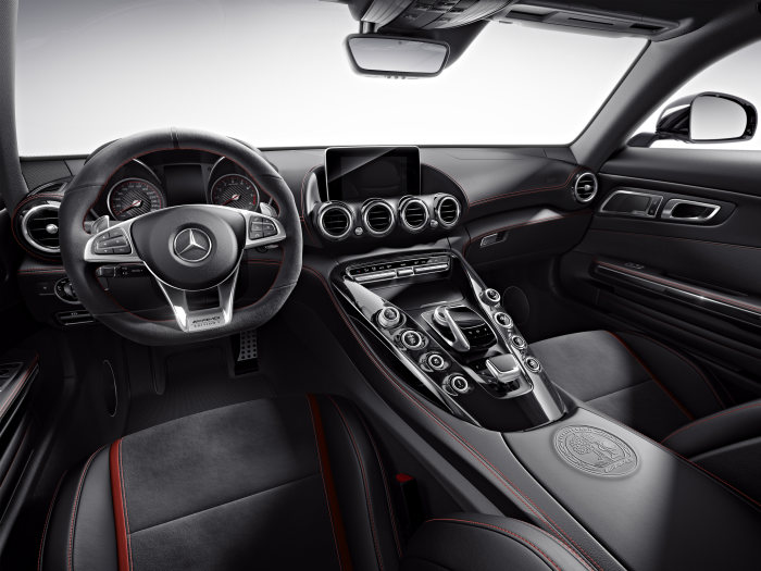 Mercedes-AMG GT S Edition 1, interior: Nappa leather / DINAMICA microfibre black, AMG Performance seats
