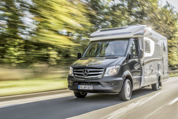 The Sprinter-based Hymer ML-T is equipped with Crosswind Assist as standard, Exterior