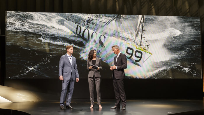 World Premiere: The new Mercedes-Benz GLC, Metzingen 2015. Ola Källenius, Member of the Board of Daimler AG, responsible for Mercedes-Benz Cars Marketing and Claus-Dietrich Lahrs, CEO Hugo Boss AG