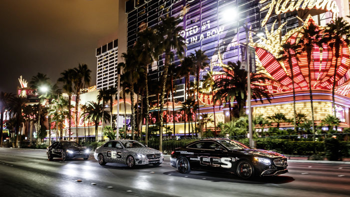 The new E-Class stops off in Las Vegas