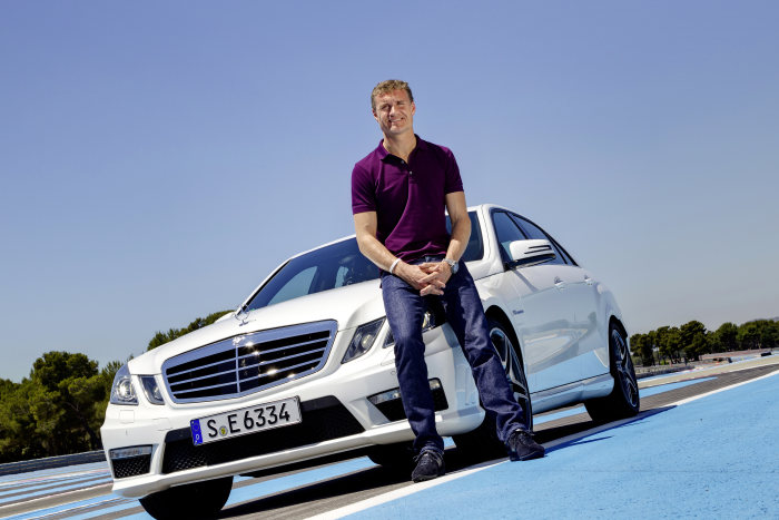 Debut with the marketing campaign for the new E 63 AMG. David Coulthard as a new AMG brand ambassador