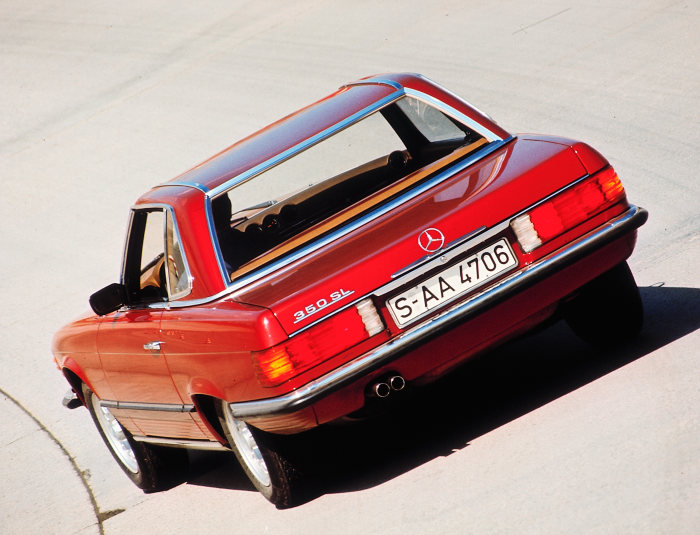 Mercedes-Benz 350 SL (R 107 series, 1971 to 1989). This version was built until 1980