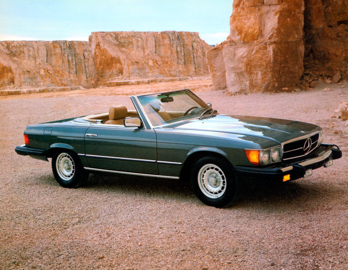 Mercedes-Benz 380 SL (R 107 series, 1971 to 1989), US version, model year 1982