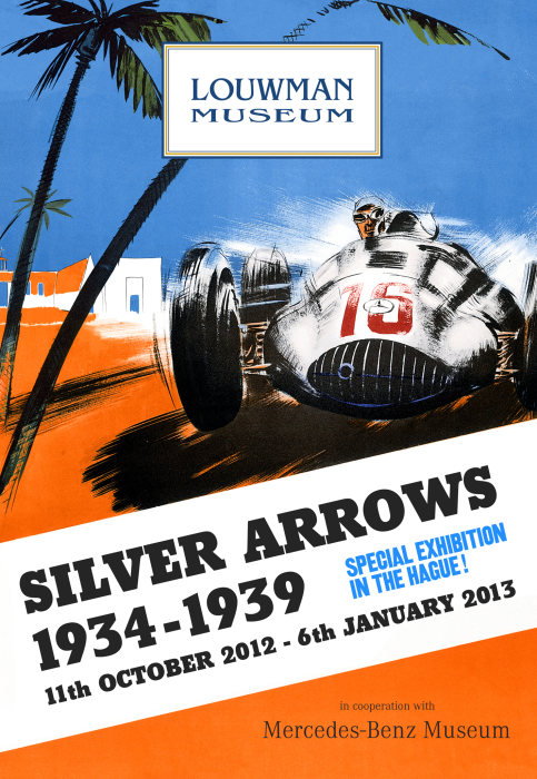 Silver Arrow special exhibition in the Louwman Museum, The Hague/Netherlands, 11 October 2012 to 6 January 2013, in collaboration with the Mercedes-Benz Museum, Stuttgart.