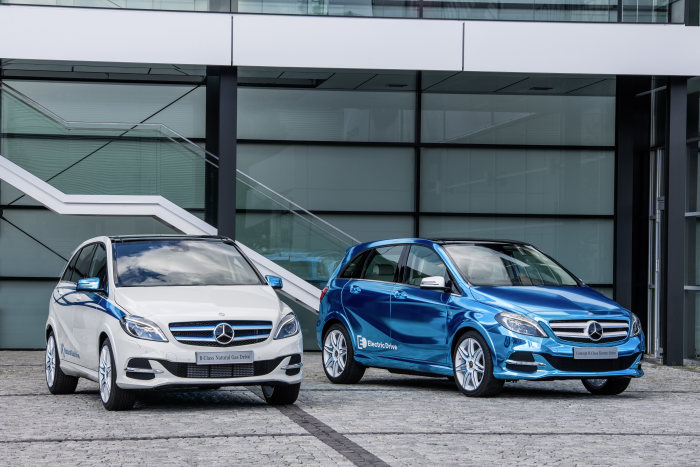 B 200 Natural Gas Drive und Concept B-Class Electric Drive