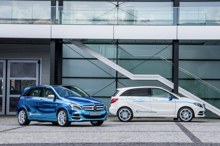 Concept B-Class Electric Drive und B 200 Natural Gas Drive
