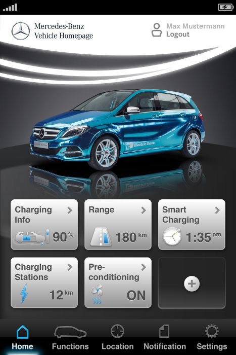 Concept B-Class Electric Drive - Vehicle Homepage