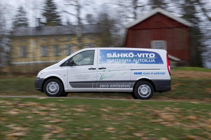 Mercedes-Benz Vito E-CELL: Delivery of 12 electrical vans in Finland