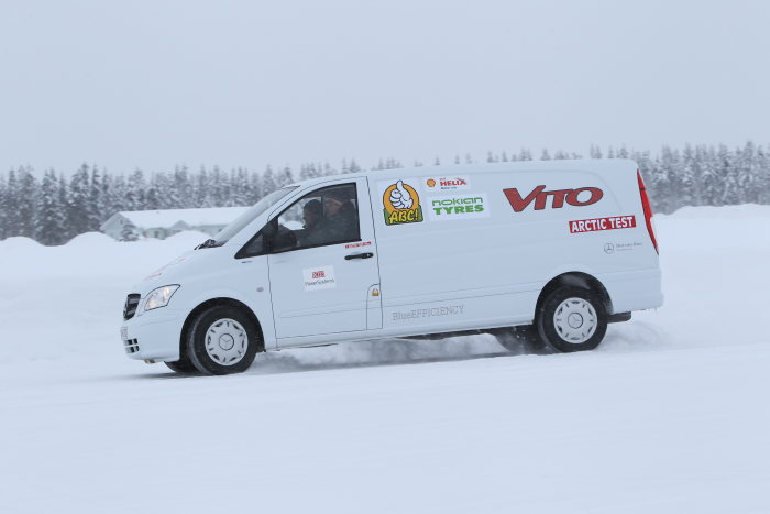 The Mercedes-Benz Vito was number one in its class in the 2013 Arctic Van Test in Finland.