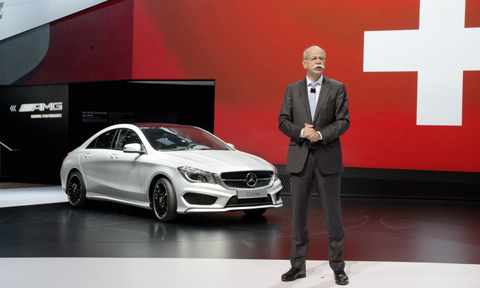 CLA motor show debut at the Geneva Motor Show 2013: Dr. Dieter Zetsche, Chairman of the Board of Management of Daimler AG and Head of Mercedes-Benz Cars, presenting the new CLA.