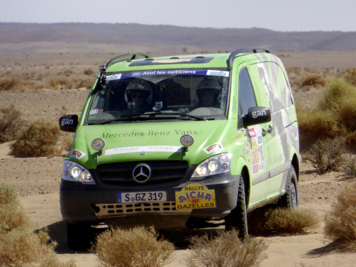 "The Mercedes-Benz Vito 4x4 convinced with its excellent driving performance at the ""Rallye Aïcha des Gazelles 2013""."