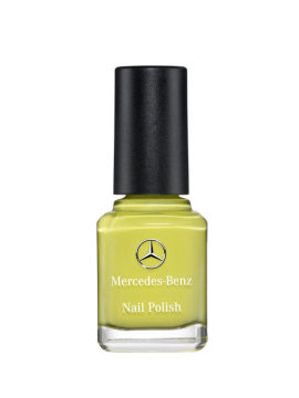 Mercedes-Benz Accessories for the CLA: Yellow nail polish in the genuine stitching colour of the CLA Edition 1. Special edition for the market launch of the CLA.