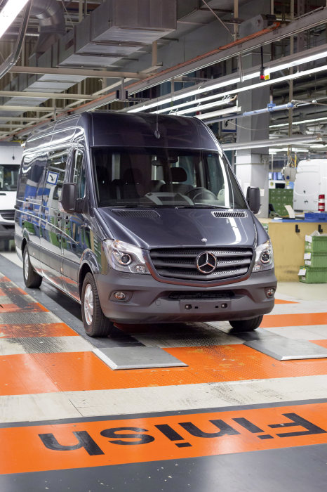 Mercedes-Benz Düsseldorf Plant, the home of the new Mercedes-Benz Sprinter.