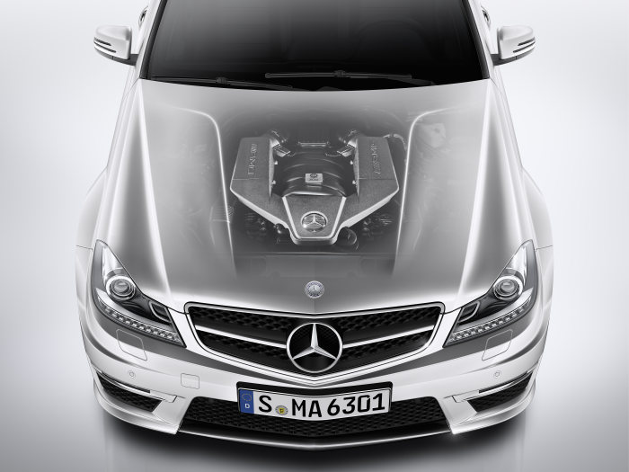 Mercedes-Benz C-Class, C 63 AMG, engine, model year 2011