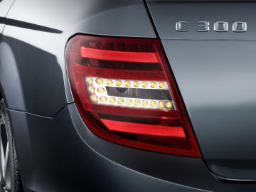 Mercedes-Benz C-Class model year 2011:The particular impression of depth is achieved by a centrally located LED indicator in C-shape.