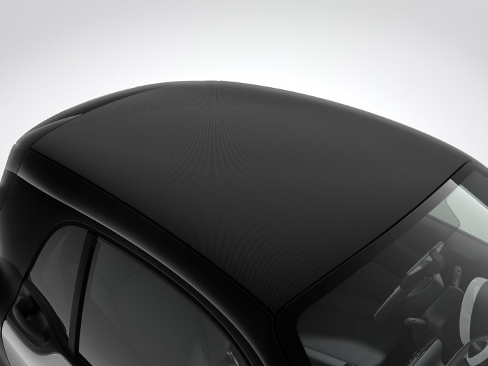 smart fortwo 2016, soft-top look roof