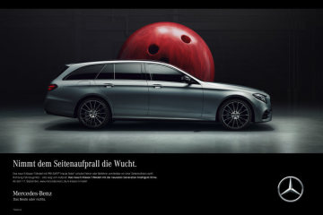 "The ""Masterpiece of Intelligence"", the new Mercedes-Benz E-Class, is a further milestone on the road to accident-free and autonomous driving. The saloon and estate versions of the most intelligent vehicle in its class take centre stage in a TV campaign. These ads will stage both occupant-protection features of ""Intelligent Drive"" - ""PRE-SAFE® Impulse Side"" and ""PRE-SAFE® Sound"" - in a humorous way while explaining how they function.A father and son can be seen in their new E-Class on the shores of the Loch Ness in Scotland waiting for Nessie, the monster of the lake. A voice sounds from off-stage, explaining how the vehicle prevents anything from happening in critical situations. The intelligent technology recognises dangers before they happen and thus protects passengers to an extent that currently only a Mercedes-Benz can. At the heart of both adverts is the message that nothing happens."