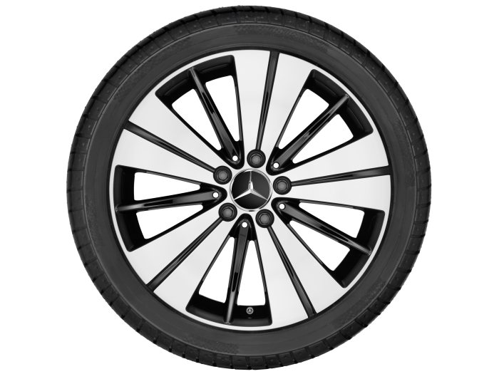 Mercedes-Benz light alloy wheels: 5-twin-spoke wheel with additional spokes, 45.7 cm (18 inch) for the A-/B-/CLA-Class