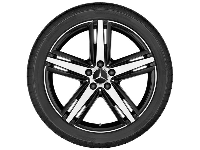 Mercedes-Benz light Alloy Wheels: 5-spoke wheel with additional spokes, 48.3 cm (19 inch) for the SL-Class