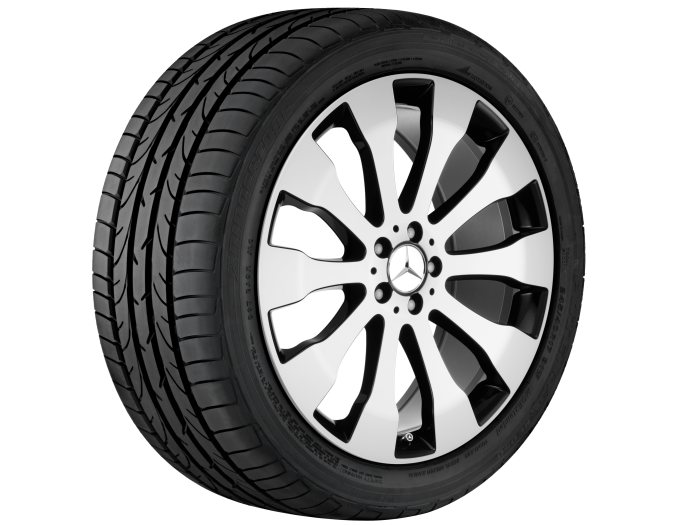 Mercedes-Benz light alloy wheels: 10-spoke wheel, 53.3 cm (21 inch) for the GLE-Class
