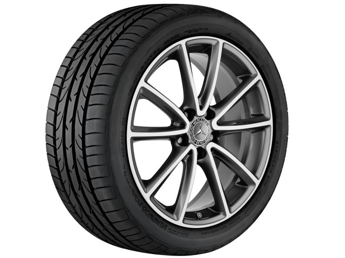 Mercedes-Benz light alloy wheels: 5-twin-spoke wheel, 45.7 cm (18 inch) for the SLC-Class