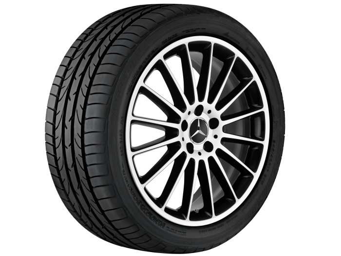 Mercedes-Benz light alloy wheels: 16-spoke wheel, 48.3 cm (19-inch) for the V-Class