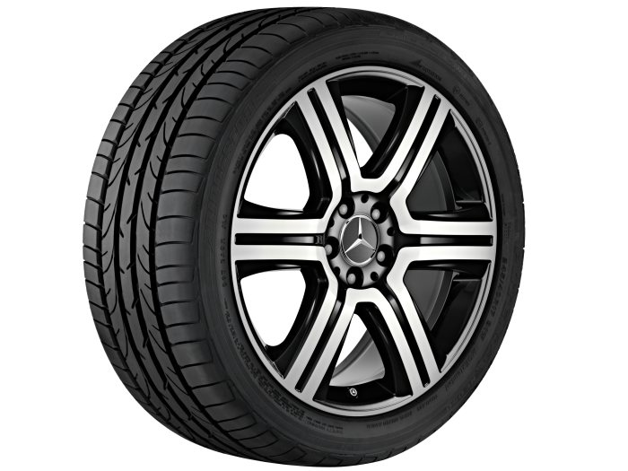 Mercedes-Benz light alloy wheels: 6-spoke wheel, 48.3 cm (19 inch) for the GLC-Class
