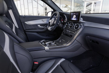 Mercedes-AMG GLC 63 S 4MATIC+, interior: leather nappa black, exterior: selenite grey
