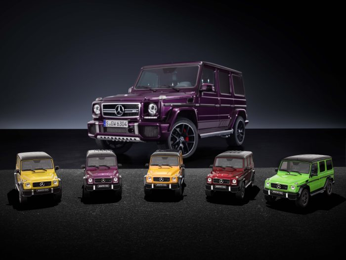 "D306553 MB Accessories: Modellautos Mercedes-AMG G 63 ""Crazy Colors"""