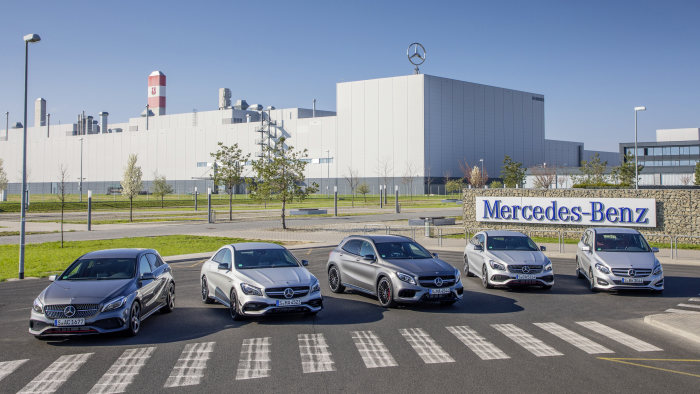 D363439 The Mercedes-Benz compact-car family: Variety breeds success