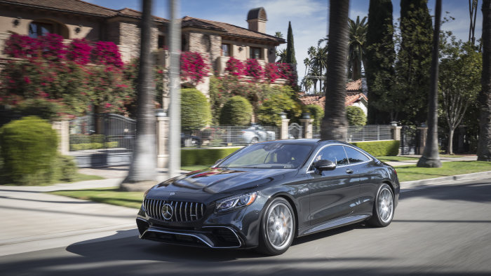 Mercedes-AMG S63 4MATIC+ Coupe,  magnetite black metallic; AMG designo Exclusive nappa leather black
