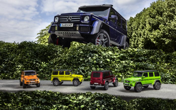 Modellautos: Mercedes-Benz G 500 4x4² sunsetbeam, Mercedes-Benz G 500 4x4² electricbeam, Mercedes-Benz G 500 4x4² tomatored, Mercedes-Benz G 500 4x4² aliengreen