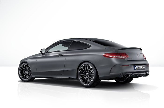 Mercedes-AMG C 43 4MATIC Coupé Night Edition, designo selenitgrau