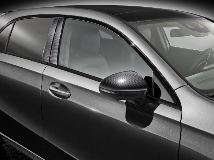 Mercedes-Benz Sport Equipment for A-Class: Exterior mirror cover in Carbon-Style & B-pillar cover in Carbon-Style