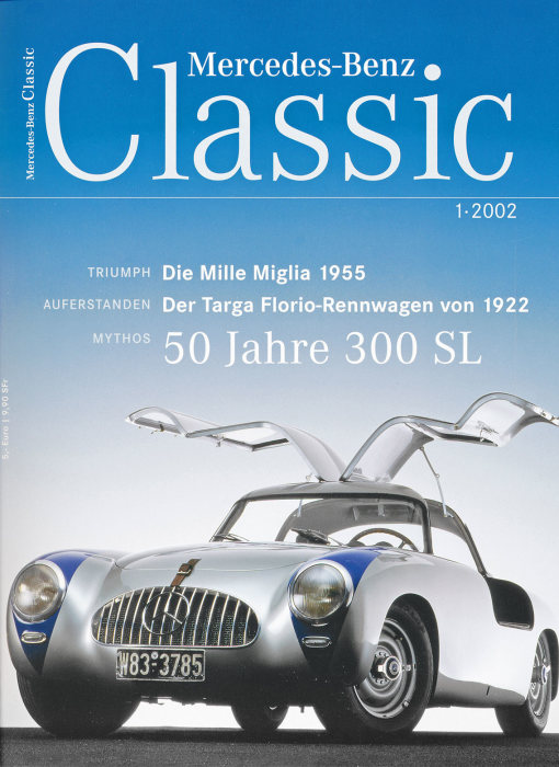 "Customer magazine  ""Mercedes-Benz Classic"", first issue of 2002, title page."
