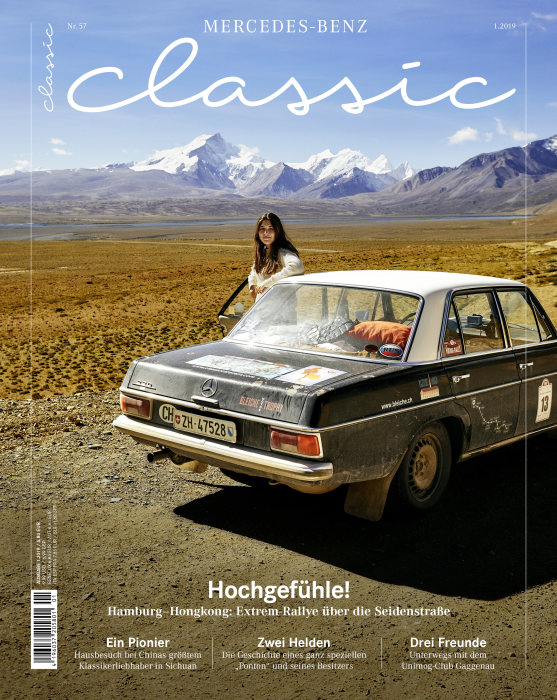 "Customer magazine ""Mercedes Classic"", issue 1/2019, on sale from 15 March 2019, title page. (german version)"