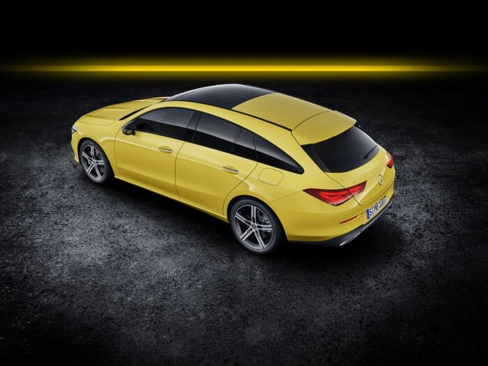 Mercedes-Benz CLA Shooting Brake, X118, 2019, Exterieur, sonnengelb
