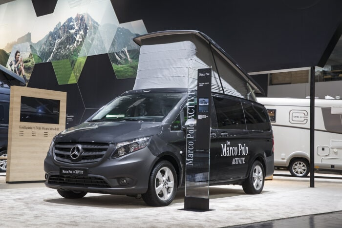 Mercedes-Benz Vans at the Caravan Salon Düsseldorf 2019 – in the picture: Mercedes-Benz Marco Polo ACTIVITY
