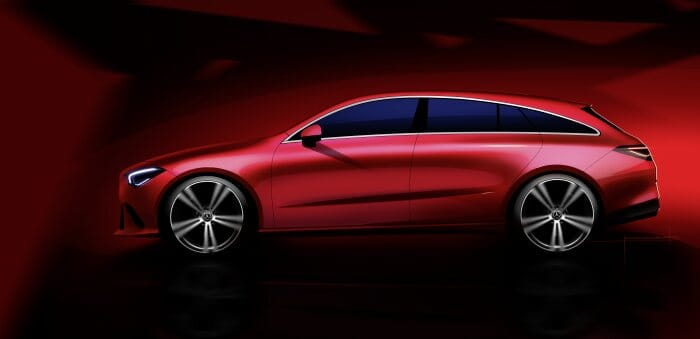 Mercedes-Benz CLA Shooting Brake Designskizzen