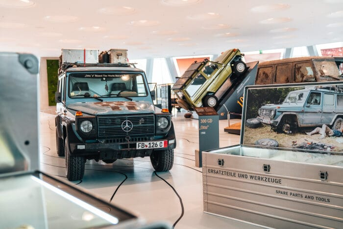 "The special exhibition entitled ""Stories of the G – 40 Years of the G-Class"" can be experienced until the end of September 2020 at the Mercedes-Benz Museum."