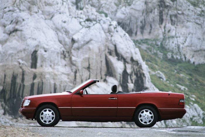 The four-seater Mercedes Cabriolet (A 124 model series) produced between 1991 and 1997.