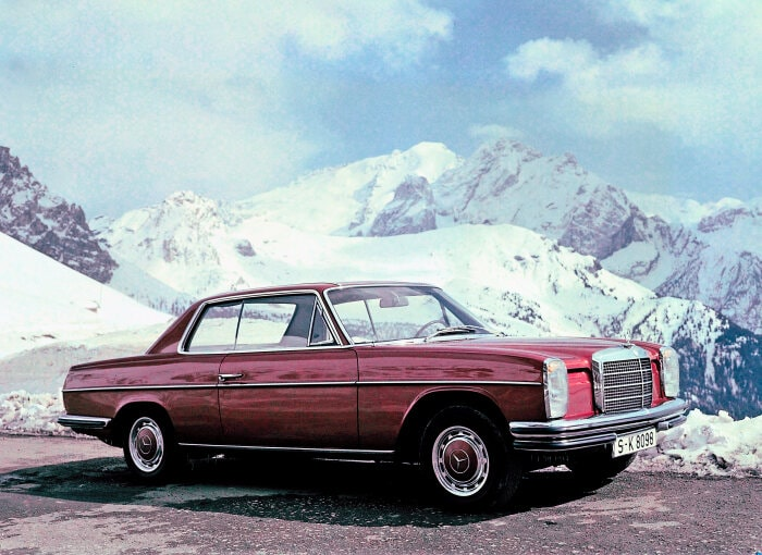 "Mercedes-Benz ""Stroke 8"" coupé from model series W 114; exterior"