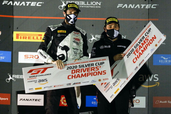 Ezequiel Perez Companc (left), Madpanda Motorsport, Drivers' Champion Silver Cup GT World Challenge Europe