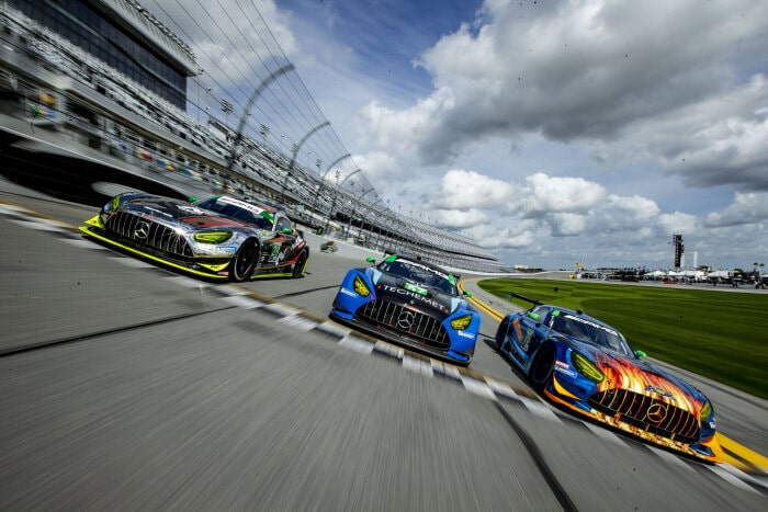 Der Mercedes-AMG GT3 auf dem Daytona International Speedway