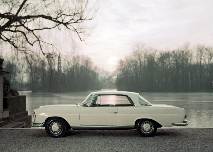Mercedes-Benz 220 SE Coupé (W 111), This car was presented to the public at the Geneva Motor Show in 1961. (Photo signature in the Mercedes-Benz archive: U2218)